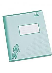 Skrivh.17x21cm olin/linj. 5+5+5+7mm grön