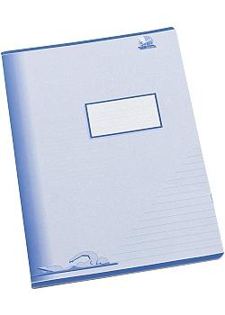 Skrivhäfte A4 linjerat 8,5mm blå