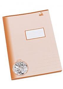 Skrivhäfte A4 1/2 sida linj 14,5mm oran