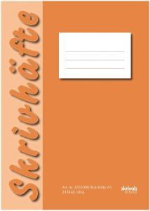 Skrivhäfte A5 olinjerat orange