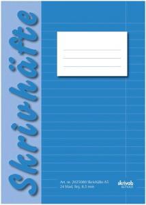 Skrivhäfte A5 linjerat 8,5mm blå (fp om 25 st)