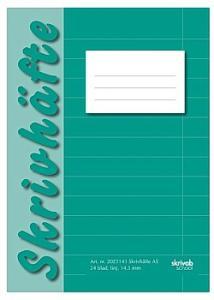 Skrivhäfte A5 linjerat 14,5mm grön