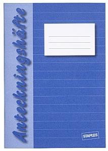 Anteckningshäfte A6 linjerat 8,5mm blå