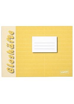 Gloshäfte A6 linjerat liggande 8,5mm gul