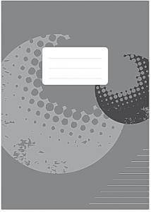Skrivhäfte A4 linjerat 8,5mm grå