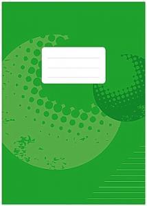 Skrivhäfte A4 linjerat 8,5mm grön