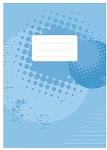 Skrivhäfte A4 linjerat 8,5mm ljusblå (fp om 10 st)