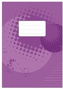 Skrivhäfte A4 linjerat 8,5mm lila (fp om 10 st)
