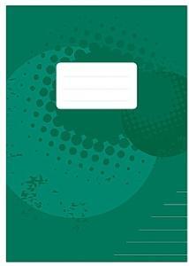 Skrivhäfte A4 linjerat 14,5mm mörkgrön (fp om 10 st)