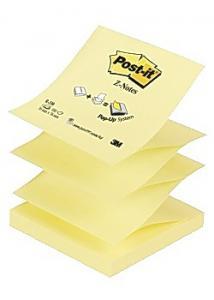 Post-it® Notes Z-block 76x76mm gul (fp om 12 x 100 blad)