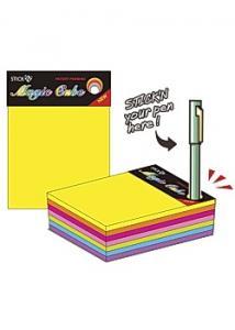 Stick'N Notes Stick'n Kub 76x76mm neon 280bl