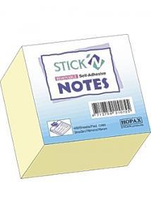 Stick'N Notes Stick'n Kub 76x76mm gul 400 bl