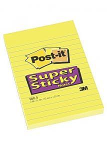 Post-it® Notes SuperSticky li.102x152 gul (block om 75 blad)