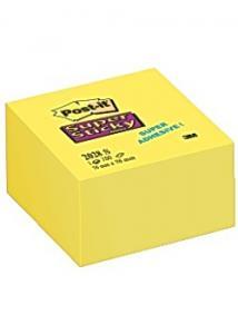 Post-it® Notes SuperSticky kub76x76mm gul (block om 350 blad)