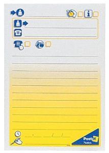 Post-it® Notes meddelande stor 102x149mm (block om 50 blad)