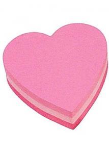 Post-it® Notes hjärta 2007H 3 färger (block om 225 blad)