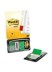 Post-it® Index 25x43mm grön (fp om 50 st)