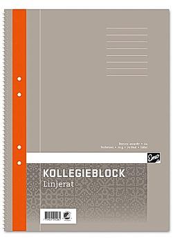 Kollegieblock A4 70g linjerat TF