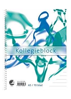 Kollegieblock A5 70g linjerat TF