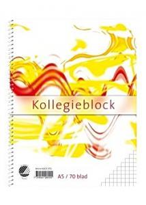 Kollegieblock A5 70g rutat TF