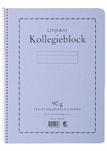 Kollegieblock A4 90g 70 blad linjerat TF