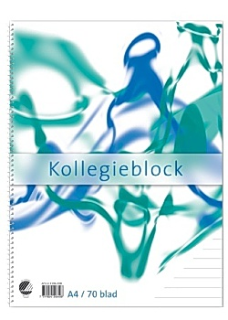 Kollegieblock A4 60g linjerat TF