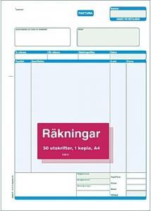 Esselte Blankett faktura A4 2x50 blad