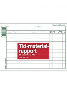 Esselte Blankett tid- och materialrapport A5L