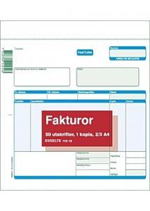 Esselte Blankett faktura 2/3 A4 2x50 blad