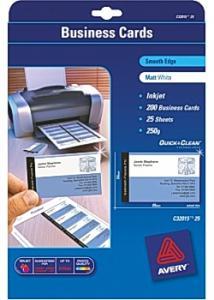Avery Visitkort inkjet 85x54 matt (fp om 200 st)