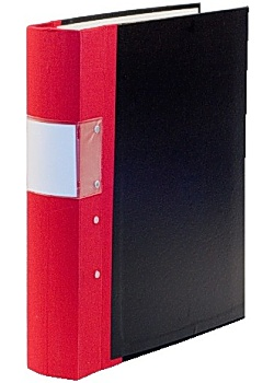 Kontorspärm A4 60mm röd