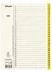 Esselte Pappregister Servo A4 1-31 gul