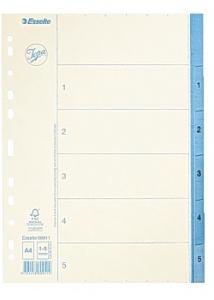 Jopa Pappersregister A4 1-5 vit/blå