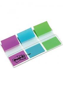 Post-it® Index 25x43mm lila turkos lime (kort 3 block)