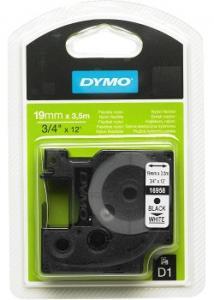 Dymo Tape D1 19mm Nylon svart på vit
