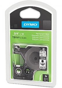 Dymo Tape D1 19mm svart på vit