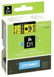 Dymo Tape D1 24mm svart på gul