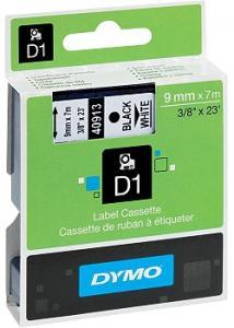 Dymo Tape D1 9mm svart på vit