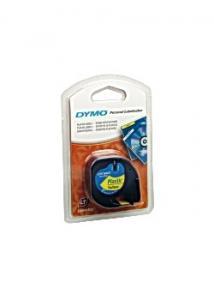 Dymo Tape LetraTAG plast 12mm svart på gul