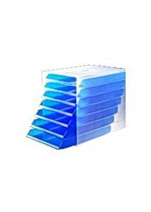 Durable Blankettbox Idealbox blå transparent (fp om 7 st)