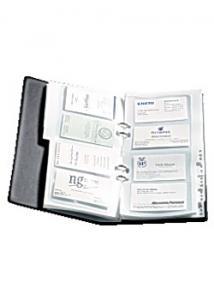 Visitkortspärm för 160 kort svart