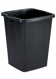 Durable Papperstunna 90 L rektangulär svart