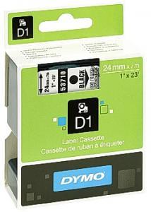 Dymo Tape D1 24mm svart på klar