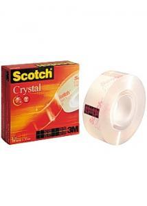 Scotch® Kontorstejp Crystal 33mx 19mm (rulle om 33 m)