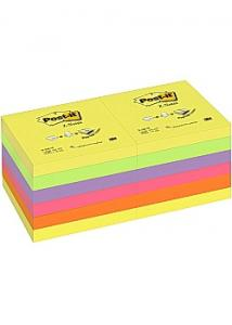Post-it® Notes Z-block 76x76mm rainbow (fp om 12 block)