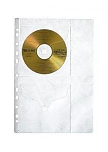 CD-Ficka A4 för 4st skivor (fp om 5 st)