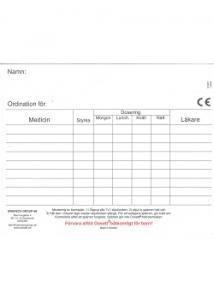 Dosett maxi ordinationskort (fp om 10 st)