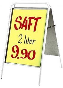 Gatuställ Sign 50x70cm vit