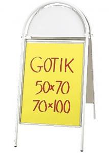 Gatuställ Gotik 70x100cm vit