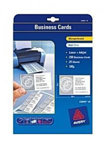 Avery Visitkort laser/inkjet 85x54 matt (fp om 250 st)